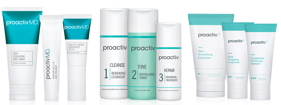 Proactiv family of products, including Proactiv Plus, ProactivMD, and the Original Proactiv 3 Step System